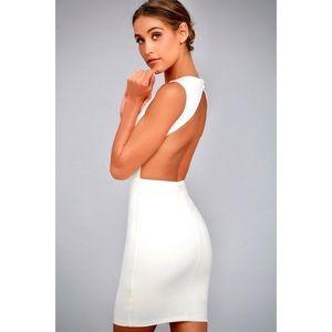 """Lulu's """"Sweet Angel"""" Backless Formal Bodycon Dress"""